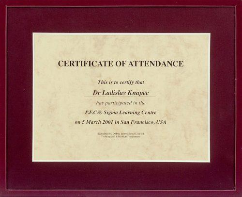 Certificitate of attendance